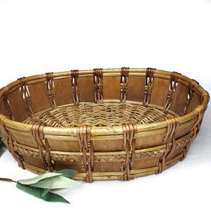 Oval Wicker Basket Decor Wall Hanging Table Decore
